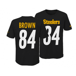ef8743ba190 NFL Pittsburgh Steelers Antonio Brown Youth Pride Name and Number 3.0 T- Shirt