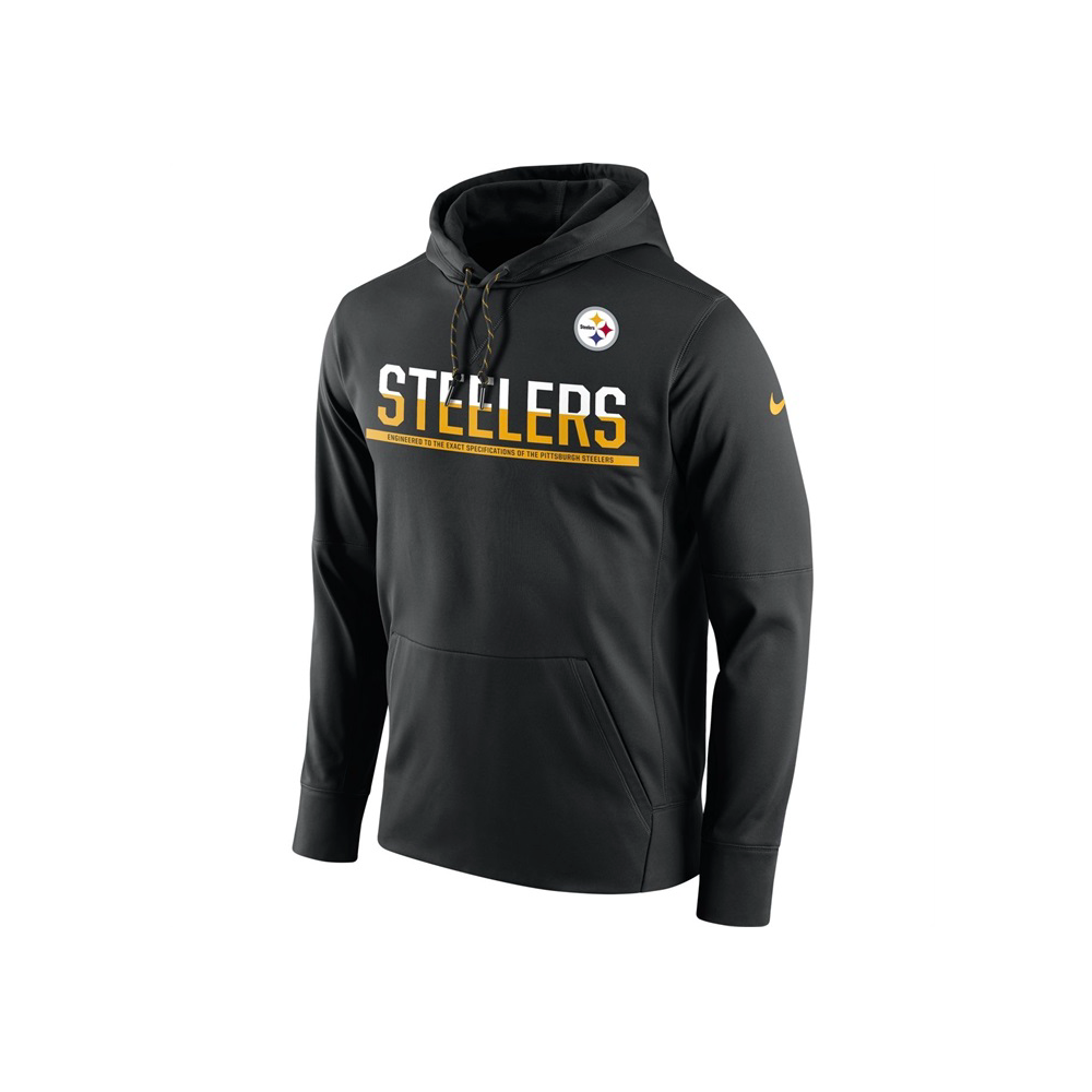 premium selection 27c64 9f06a NFL Pittsburgh Steelers Sideline Circuit Pullover Performance Hoodie
